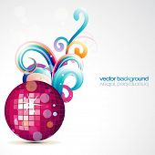 stylish disco ball vector design art