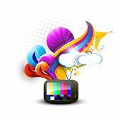 abstract tv vector artistic design
