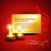 beautiful diwali background with space for your text