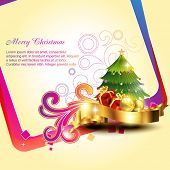 vector beautiful artistic christmas background design illustration