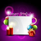 stylish happy birthday design art