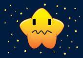 Dazed Star Cartoon Character Illustration In Vector