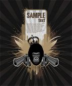 picture of gangsta  - Frame for text with gangsta gorilla - JPG