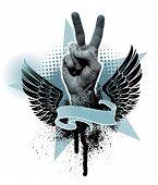 Hand Friedenszeichen
