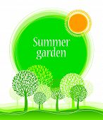 Decorative vector summer garden