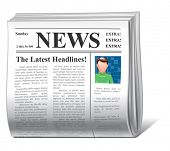 vector news icon front page