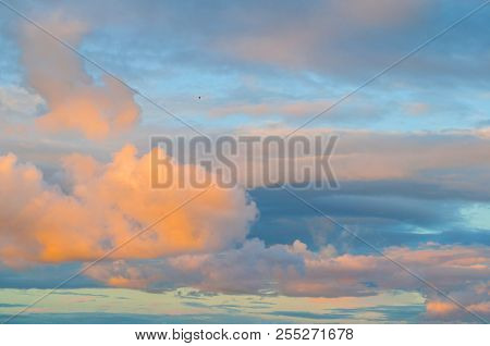 Dramatic Sunset Cloudy Sky With