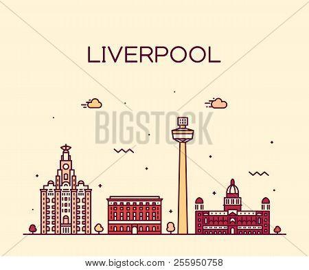 Liverpool City Skyline North West