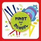 Welcome Back To School Label, Badge. School Background. Sale Tag. Vector Illustration. Typography Em poster