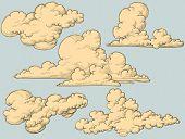 Vintage clouds