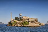 Alcatraz Island In San Francisco Bay, The Famous High Security Prison Which Is Now A National Park A poster