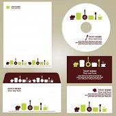 Business template, kitchen/restaurant/cafe set