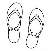Flip Flop Sandals Icon. Outline Illustration Of Flip Flop Sandals Icon For Web Design poster