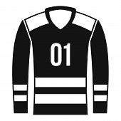 Sport Uniform Icon. Simple Illustration Of Sport Uniform Icon For Web poster
