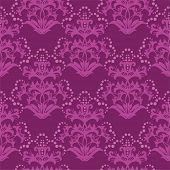 Seamless fuchsia purple floral wallpaper