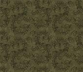 Seamless khaki green foliage pattern