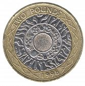 British Two Pound Coin (back)
