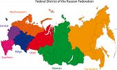 Color regions and federal subjects of the Russian Federation