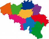 Map of administrative divisions of Belgium