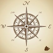 foto of cartographer  - Vector compass - JPG