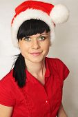 Woman In The Cap Santa