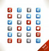 Vector beautiful icon set. Part 8 - Media player