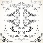 Various elegance rule lines and corners-vector decorative elements for your design
