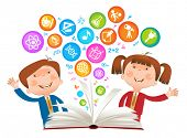 picture of cognitive  - book Child symbol - JPG