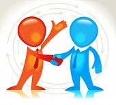 Business hand shake. The business agreement