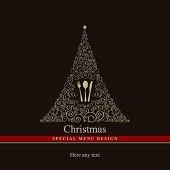 Vector. Projeto de menu especial de Natal.
