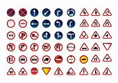 Traffic signs. Vector illustration.