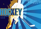 Hockey abstract poster. Vector illustration.