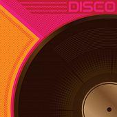 Cartel disco diseñado con vinilo. Ilustración del vector.