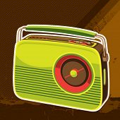Designed retro radio background. Vector illustration.