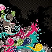 Psychedelic abstract colored background. Vector illustration.