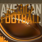 Designed american football banner. Vector illustration.