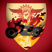 foto of blood drive  - Illustrated motorcycling background - JPG