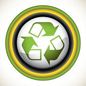 Designed recycle sign. Vector illustration.