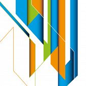 Creative abstraction with designed shapes. Vector illustration.