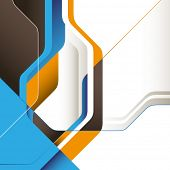 Modern designed conceptual graphic with abstraction. Vector illustration.
