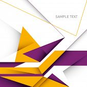 Designed business layout with abstraction. Vector illustration.