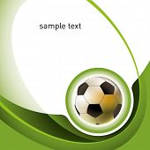 Modern football layout with designed abstraction. Vector illustration.