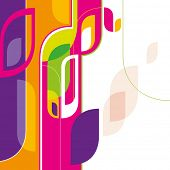 Designed creative abstraction in color. Vector illustration.