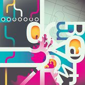 Artistic colorful composition. Vector illustration.