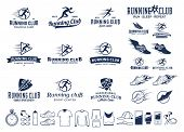 Running Logo, Icons And Design Elements poster