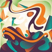 Artistic colorful abstraction. Vector illustration.