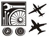 Airplane repair icon