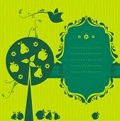 green fruit banner