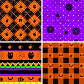 Halloween theme backgrounds set, repeat this pattern as much as you want