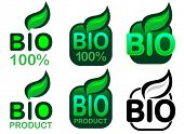 Bio Product and Bio 100% Icon / Seal